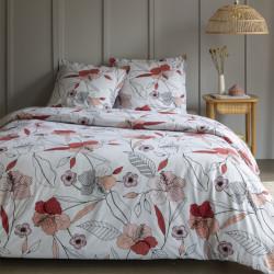 Parure de draps 240 x 300 cm 3 PIECES ROSE SAUVAGE 100% Coton Traditionnel