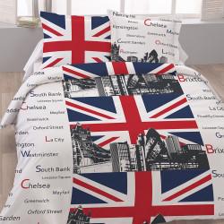Housse de couette LONDON TOWERS 200 x 200 +2 Taies Coton 100%