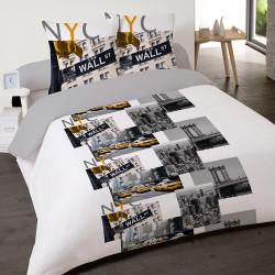 Housse de couette NEW YORK CITY TRIP 200 x 200 +2 Taies Coton 100%