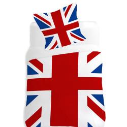 Housse de couette UK FLAG  140 x 200 + 1 Taie  100%  Coton
