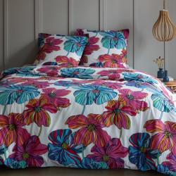 Parure de draps 240 x 300 cm 3 PIECES TULIPE 100% Coton Traditionnel