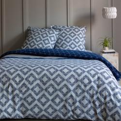 Housse de couette  260 x 240 cm + 2 Taies BLEUET Coton traditionnel