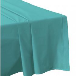 DRAP PLAT 270  x300 CELADON Véritable Percale de coton 80 fils