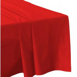DRAP PLAT 270 x 300 ROUGE Véritable Percale de coton 80 fils