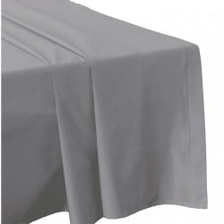 DRAP PLAT 270 x 300 PERLE Véritable Percale de coton 80 fils