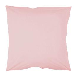 Taie d oreiller à volants  65x65 cm ROSE Coton Passion d'Elly en déstockage.