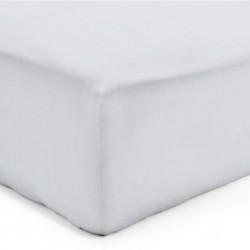 Drap Housse Maxi Jersey GRIS PERLE Coton Bonnet de 35 cm 160 x 200 cm
