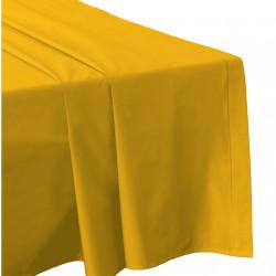 DRAP PLAT 270 x 300 SAFRAN Véritable Percale de coton 80 fils