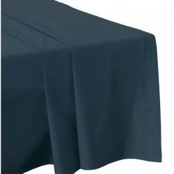 DRAP PLAT 270 x 300 LAGON Véritable Percale de coton 80 fils