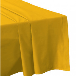 DRAP PLAT 240 x 300 SAFRAN Véritable Percale coton 80 fils