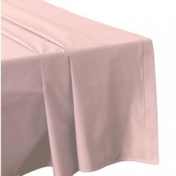 DRAP PLAT 240 x 300 ROSE POUDRE Véritable Percale coton 80 fils