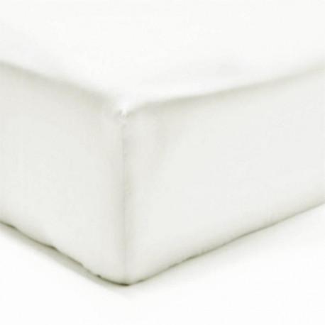 Drap housse Flanelle  Molleton Douceur 200 x 200  BLANC