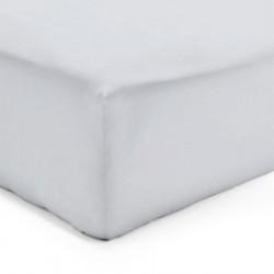 Drap Housse 160 x 200 cm Flanelle GRIS PERLE Sim 160 gr-m2