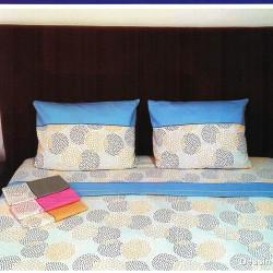 Parure de draps FLANELLE FLOCONS Rose 4 PIECES  220x300 cm pour lit de 140 de large