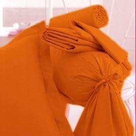 DRAP HOUSSE JERSEY EXTENSIBLE pour lits de  180 x 200 à 200x200 /220 ORANGE bonnet 30