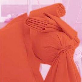 Drap Housse Jersey 90 x 190 cm CORAIL Orange