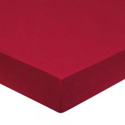DRAP HOUSSE 180 x 200 CARMIN rouge bonnet 27