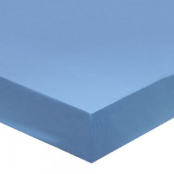 DRAP HOUSSE 180 x 200 Bleu GLACIER bonnet 27