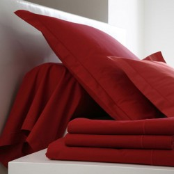 DRAP PLAT 180x290 Carmin ( Rouge ) BLANC DES VOSGES